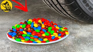 Experiment: Car vs M&M Candy, Slime, Orbeez | Crushing Crunchy & Soft Things by C