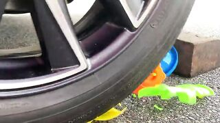 Experiment Car vs Big Water Balloons | Crushing Crunchy & Soft Things by Car