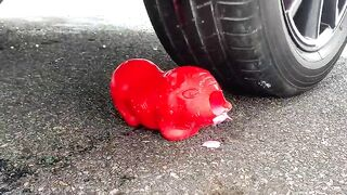 Crushing Crunchy & Soft Things by Car! Experiment Car vs Watermelon and Light Bulbs