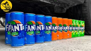 Experiment Car vs 32 Fanta Cans | Crushing Crunchy & Soft Things by Car #6