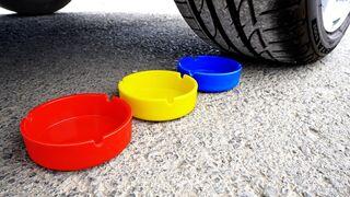 EXPERIMENT: CAR VS Rainbow Toys | Crushing Crunchy & Soft Things by Car