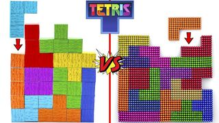 Playing FAST Tetris with Minecraft Blocks and Magnetic Balls