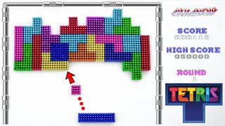 Playing Arkanoid Arcade with Magnetic Tetris | Magnetic Balls !!