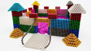DIY - Build Castle with Magnetic Balls (Satisfying) - Magnet Balls