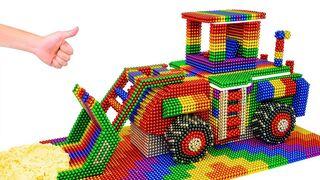 DIY - Build Amazing Bulldozer Construction Vehicle With Magnetic Balls (Satisfying) - Magnetic Cube