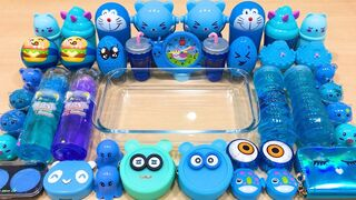Special Series #30 BLUE Satisfying Slime Videos - Mixing Random Things into Store Bought Slime