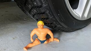 Crushing Crunchy & Soft Things by Car! EXPERIMENT CAR vs Stretch Armstrong
