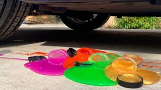 Crushing Crunchy & Soft Things by Car! EXPERIMENT CAR VS SLIME