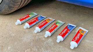 Crushing Crunchy & Soft Things by Car. EXPERIMENT CAR vs TOOTHPASTE