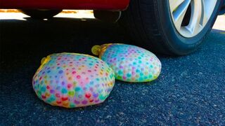 Crushing Crunchy & Soft Things by Car! - EXPERIMENT Orbeez Balloons vs Car