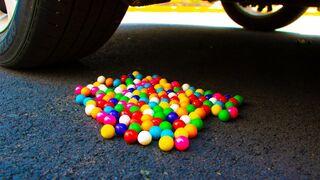 Crushing Crunchy & Soft Things by Car! - EXPERIMENT Gumballs vs Car