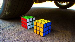 Crushing Crunchy & Soft Things by Car! - EXPERIMENT Rubiks Cube vs Car