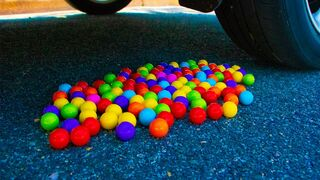 Crushing Crunchy & Soft Things by Car! - EXPERIMENT Gumballs vs Car