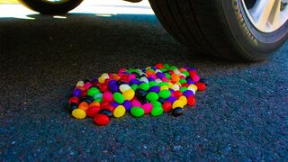 Crushing Crunchy & Soft Things by Car! - EXPERIMENT Jelly Beans vs Car