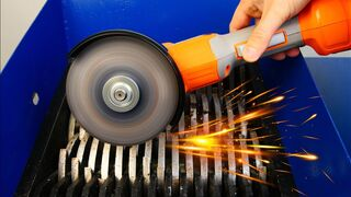 Operated Angle Grinder vs Shredder! Amazing Experiment!