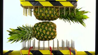 PINEAPPLE BETWEEN NAIL BEDS (HYDRAULIC PRESS EXPERIMENT)