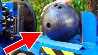 EXPERIMENT KINETIC SPLITTER VS BOWLING BALL