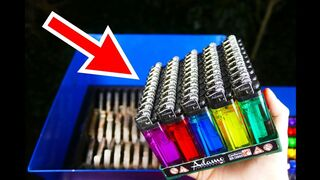 SHREDDING 100 LIGHTERS! AWESOME VIDEO!