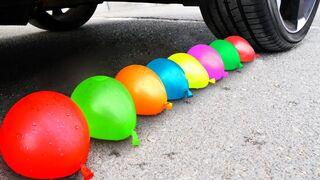 Crushing Crunchy & Soft Things by Car! EXPERIMENT: Car vs Coca Cola, Fanta, Marvel Balloons