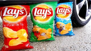 Experiment Car vs Lays Chips & Food | Crushing Crunchy & Soft Things by Car!