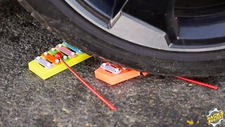 Experiment Car vs WATER BALLOONS   Crushing Crunchy & Soft Things by Car!