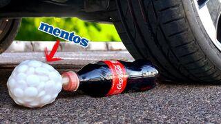 Crushing Crunchy & Soft Things by Car! - EXPERIMENT: COCA COLA + MENTOS VS CAR VS FOOD