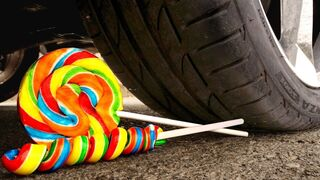 Crushing Crunchy & Soft Things by Car! - EXPERIMENT: CAR VS Lollipops