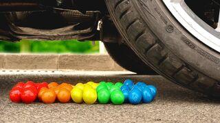 Crushing Crunchy & Soft Things by Car! - EXPERIMENT: M&M'S VS CAR VS FOOD