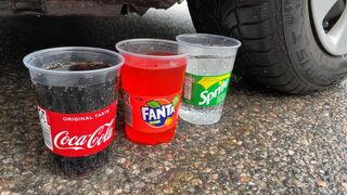 Crushing Crunchy & Soft Things by Car! EXPERIMENT CAR vs COCA COLA, FANTA, SPRITE 2