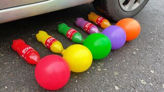 EXPERIMENT: Car vs Coca Cola with Balloons - Crushing Crunchy & Soft Things by Car! 2