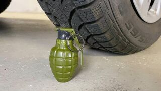Crushing Crunchy & Soft Things by Car! EXPERIMENT: Car vs Grenade