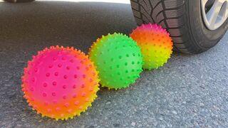 Crushing Crunchy & Soft Things by Car!   EXPERIMENT: SOCCER BALL VS CAR
