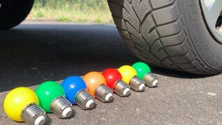 Crushing Crunchy & Soft Things by Car! Experiment Car vs Light Bulb, Coca Cola, Mirinda, Fanta