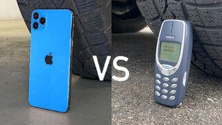 EXPERIMENT: iPhone 11 Pro vs Nokia 3310 vs CAR