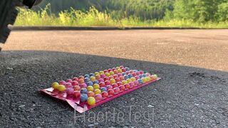 EXPERIMENT: Car vs Chewing Gum - Crushing Crunchy & Soft Things by Car!