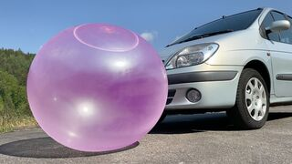 EXPERIMENT: Car vs Wubble Bubble - Crushing Crunchy & Soft Things by Car!