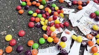 EXPERIMENT: Car vs Skittles - Crushing Crunchy & Soft Things by Car!