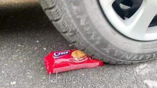 Crushing Crunchy & Soft Things by Car! EXPERIMENT: Car vs Doodles Balls