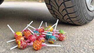 EXPERIMENT: Car vs Chupa Chups Lollipops - Crushing Crunchy & Soft Things by Car!