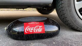 Crushing Crunchy & Soft Things by Car! EXPERIMENT: Car vs Coca Cola in Condom