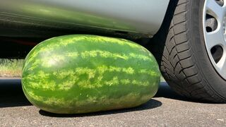 Crushing Crunchy & Soft Things by Car! EXPERIMENT: BIG WATERMELON VS CAR