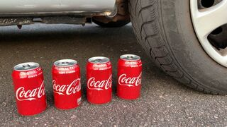 EXPERIMENT: CAR VS COCA COLA - Crushing Crunchy & Soft Things by Car!