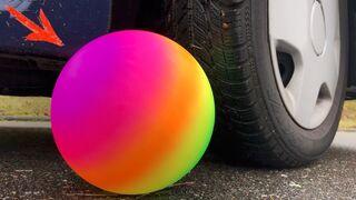 RAINBOW BALL vs CAR