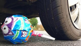 Crushing Crunchy & Soft Things by Car! - EXPERIMENT: CAR VS BIG LOLLIPOP