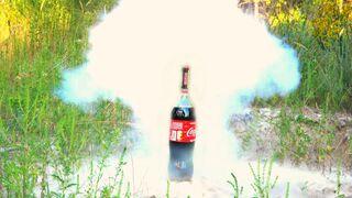 EXPERIMENT Firecrackers VS Coca Cola