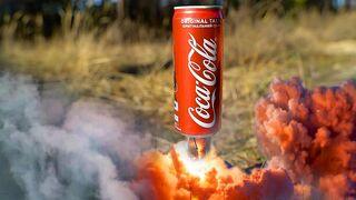 EXPERIMENT COCA COLA VS FIRECRACKERS SUPER REACTION