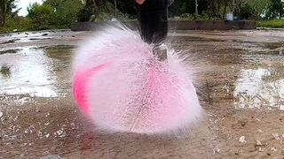 Crushing Crunchy & Soft Things by Car -EXPERIMENTS: Water Balloon in SLOW MOTION!