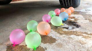 Crushing Crunchy & Soft Things by Car -EXPERIMENTS: Car vs Mirinda Balloons
