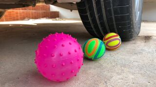 Crushing Crunchy & Soft Things by Car -EXPERIMENTS: Car vs Balls