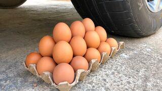 Crushing Crunchy & Soft Things by Car -EXPERIMENTS: Car vs Eggs